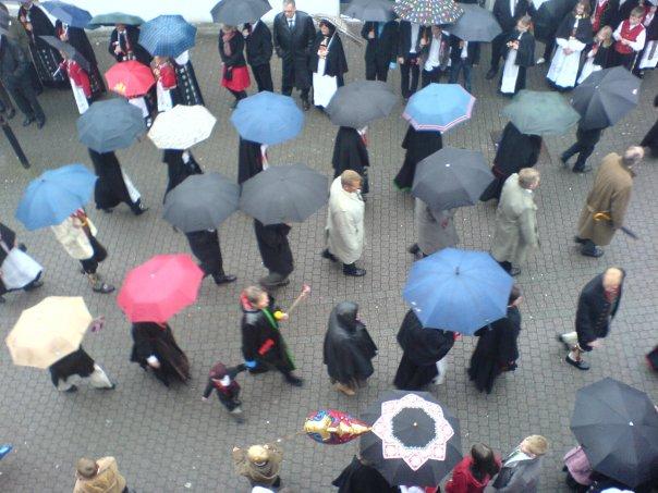Paraplyane på Vikjo.